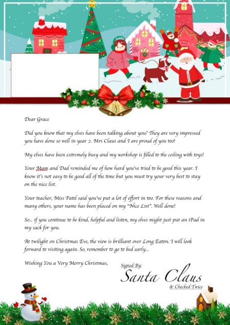 personalised letter from santa sale on free elf personalised